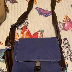 Prada navy blue canvas style shoulder bag